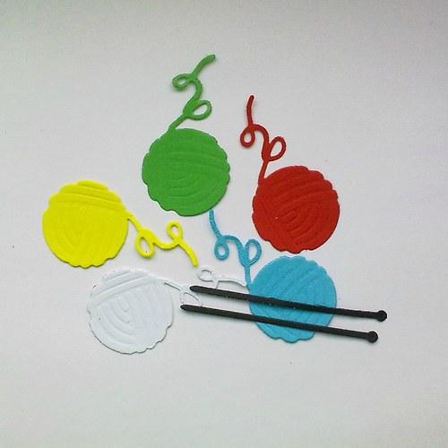Výsek - Klubíčka a jehlice - barvy dle přání