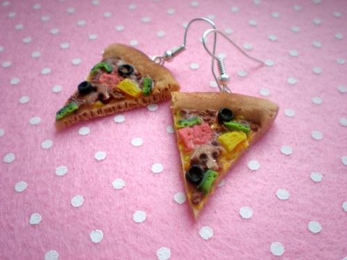 Pizza (Fimo náušničky)