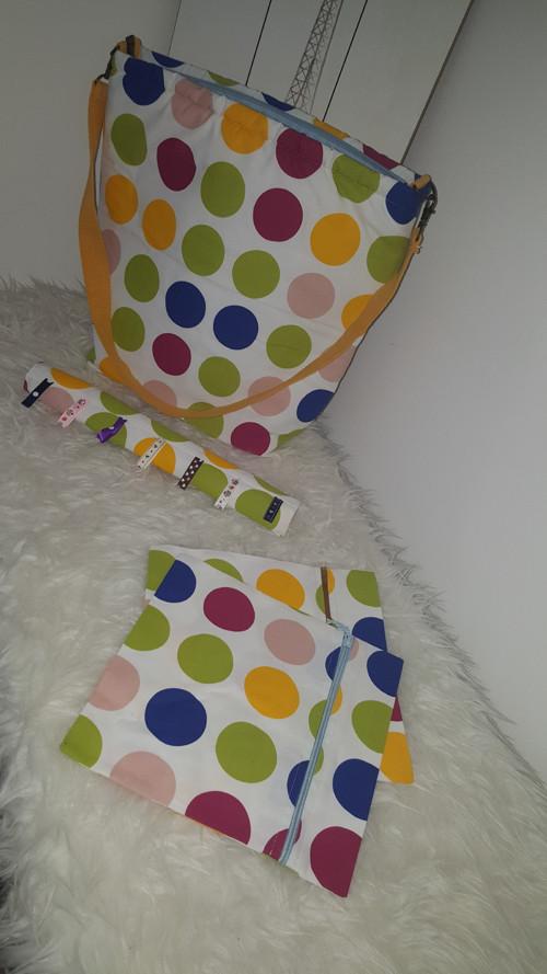 Set přebalovací taška, 2x kapsa, potah na madlo