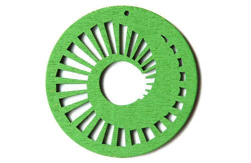 dřevěné kolečko 60 mm-sv. zelené