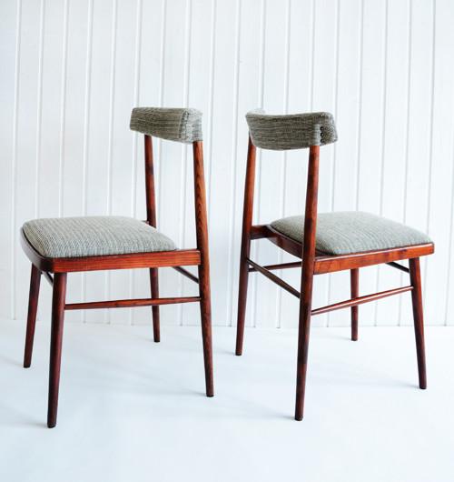 Dvě čalouněné židle / 50.léta