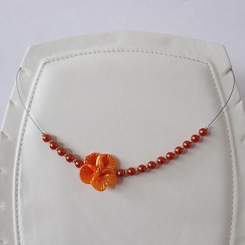 Náhrdelník Fleur Orange