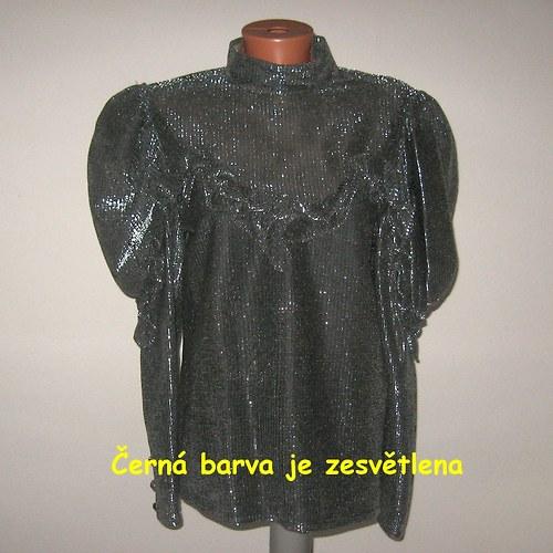 Černo-stříbrná halenka