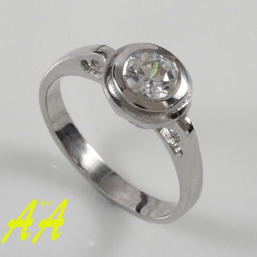Zásnubní prsten alá Valentýn - bílé zlato