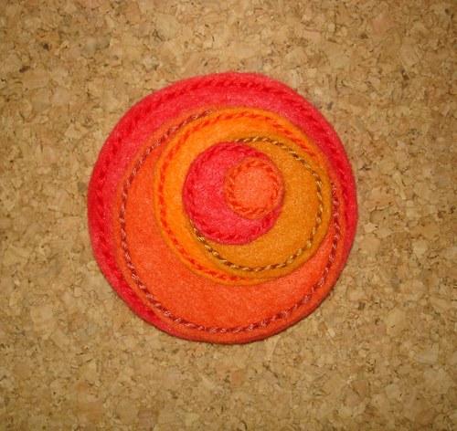Červeno-oranžové kroužení