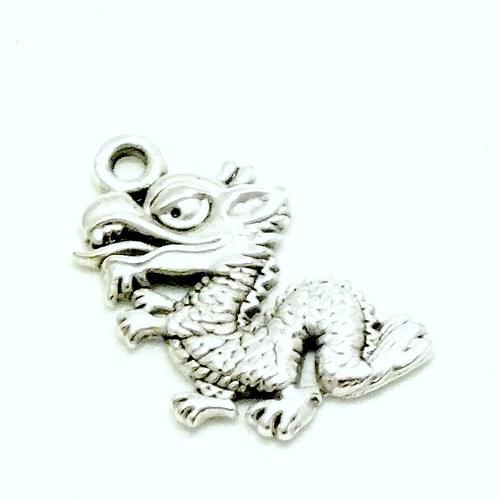 Přívěsek - drak čínský , 2 ks