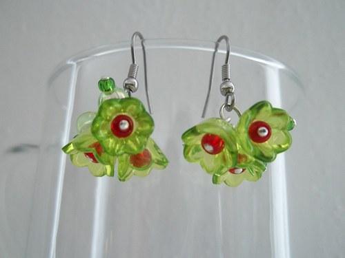 Náušničky zelenkavé