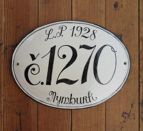 Domovní číslo na zakázku