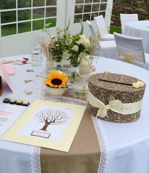 Svatební strom hostů...otisk navždy
