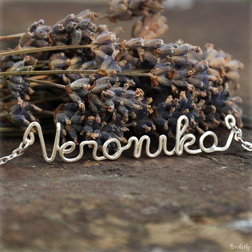 """Náhrdelník s menom / řetízek se jménem \""""Veronika\"""""""