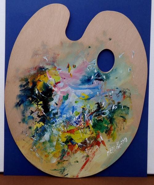 Malířova paleta - originální olej