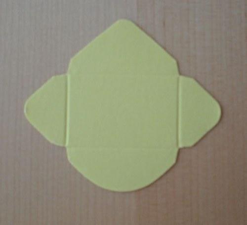 Výsek - obálka mini - žlutá 1ks