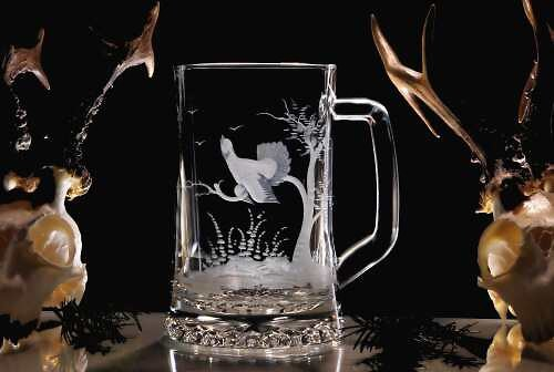 Pullitr s tetřevem-sklenice na pivo