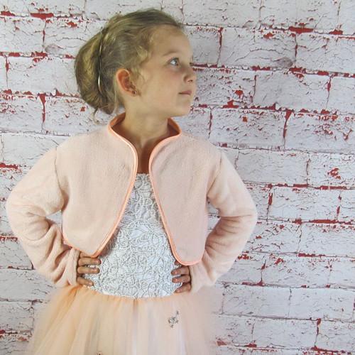 Dětský měkký svetřík - meruňkový