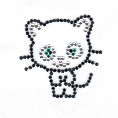 Černá kočička - nažehlovací motiv