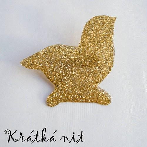 Zlaté kuřátko - brož