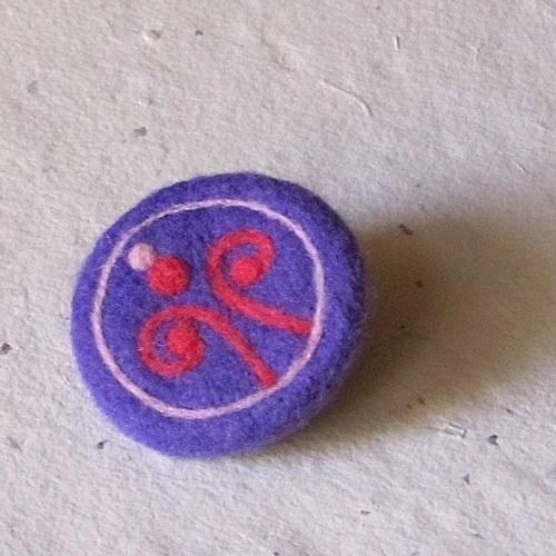 Brošňa - Špirálková fialová