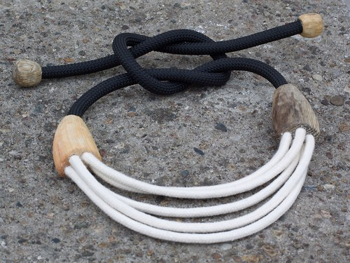 Náhrdelník PINE WOOD AND ROPE