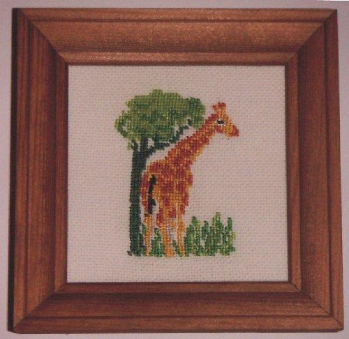 Vyšívaný obrázek - žirafa
