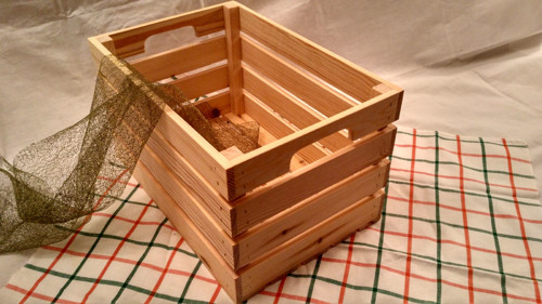 dřevěná bedýnka borovice s úchopem