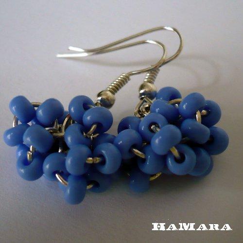 modré hrozny - náušnice