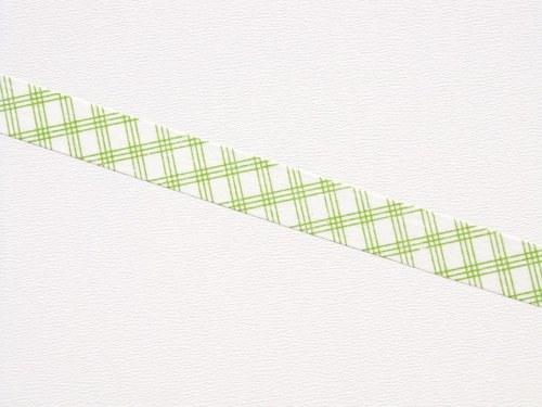 Páska: Zelené káro na bílé (1,5 x 33 cm)