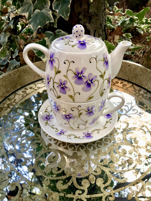 čaj z fialek