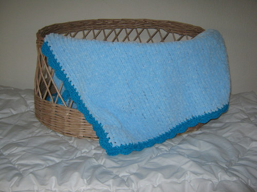 hřejivá deka - modrá