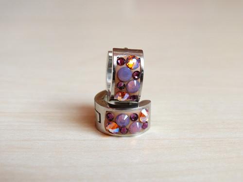 Brown- matt violet kreolky z chirurgické oceli