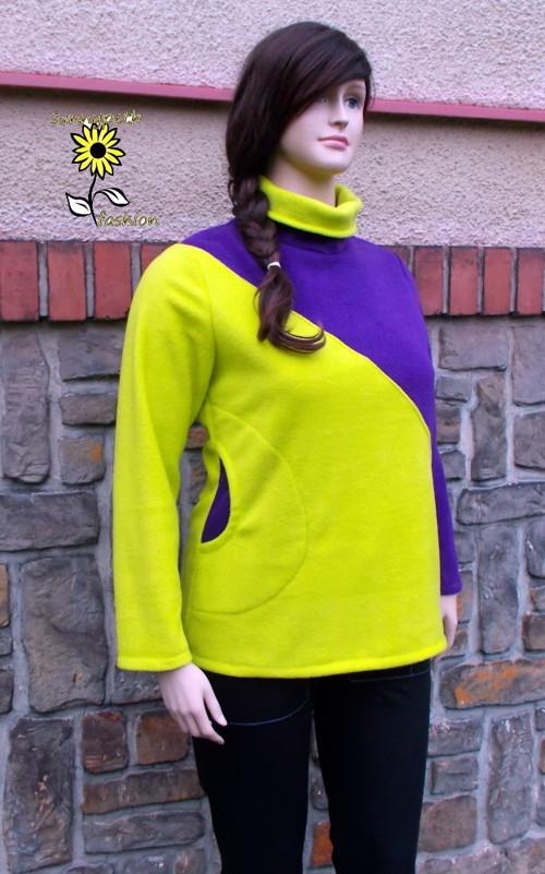 """Mikina ,,Neon Green&Purple\"""""""
