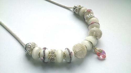 Luxusní náhrdelník s růžovým srdcem
