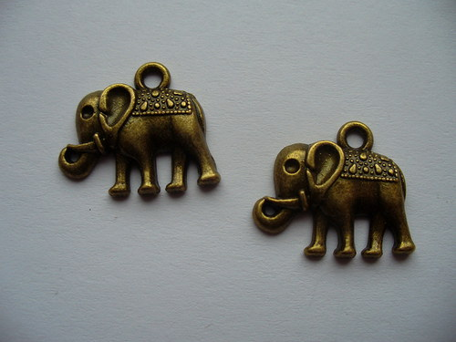 přívěsek slon /18x15mm/ - 2 ks