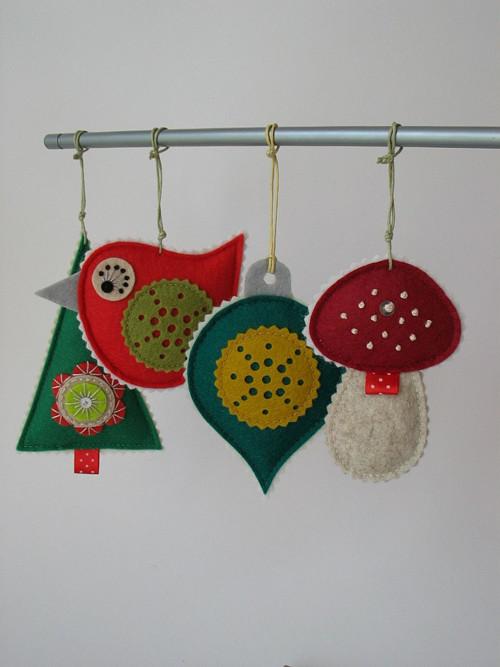 Vánoční dekorace- sada 4 kusy