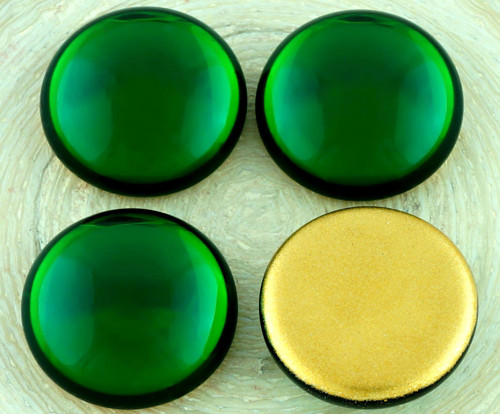 2ks Crystal Peridot Zelené Kulaté Klenuté Flatback