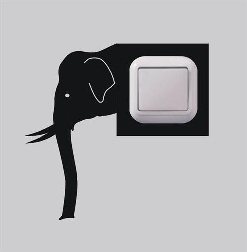Samolepka k vypínači - Slon