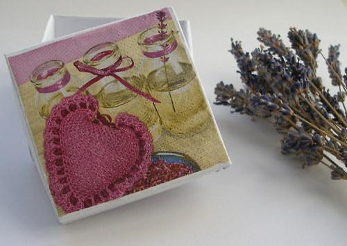 Dárková krabička - levandule