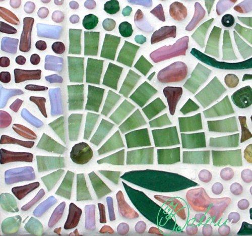 """Mozaikový obrázek \""""Zelenkavý\"""""""