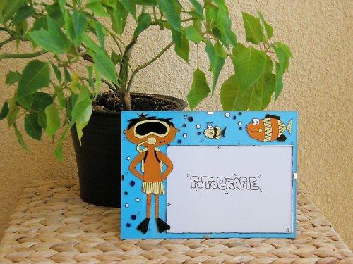 Rámeček na fotku - potápěč