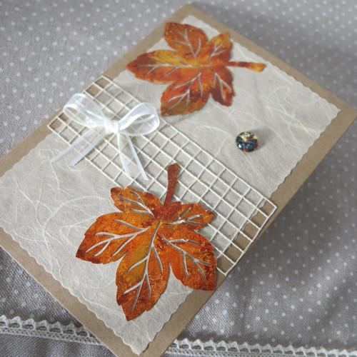Podzimní blahopřání - javorové listy