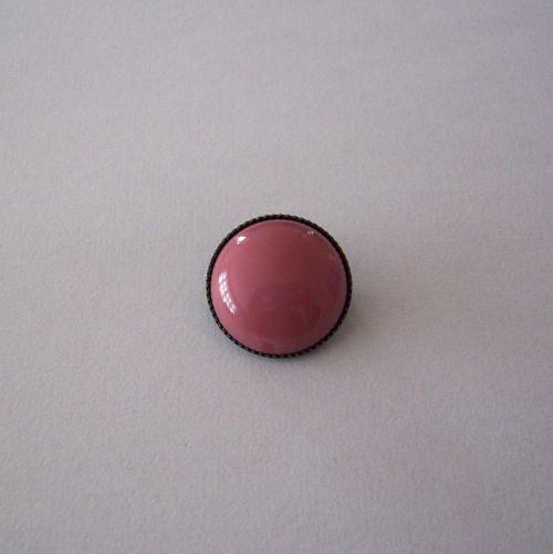 Skleněný kabošon v kotliku 5 direk - růžový opál