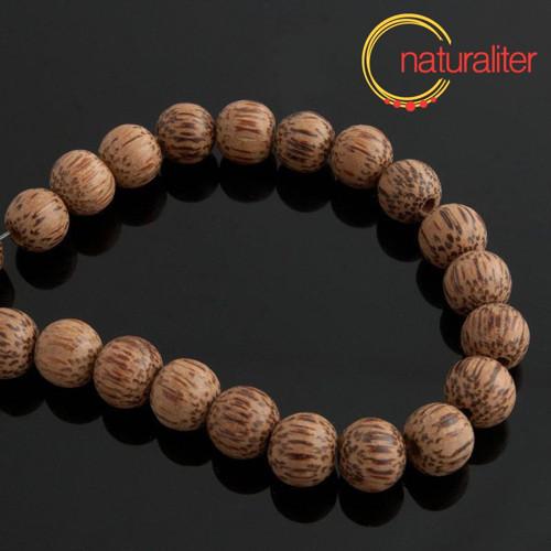 Korálky z kokosu přírodní 10-11mm, návlek 84cm
