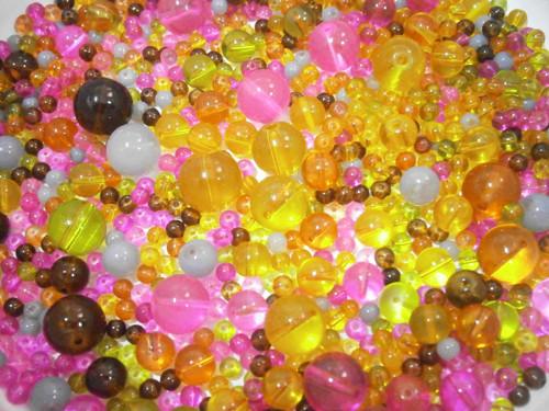 Korálky sklo mix 4-11mm (91gr)