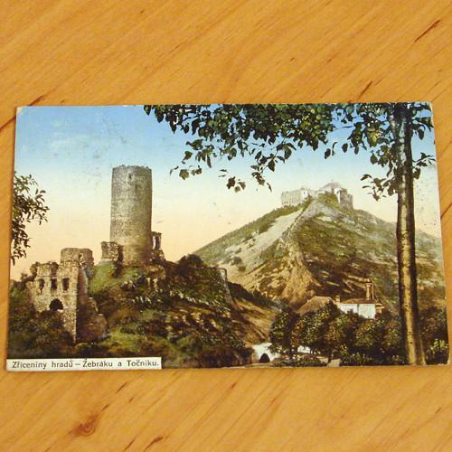 Zříceniny hradů - Žebráku a Točníku - pohlednice