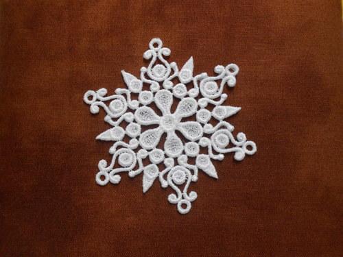 Vánoční ozdoba - sněhová vločka bílá AP1124006
