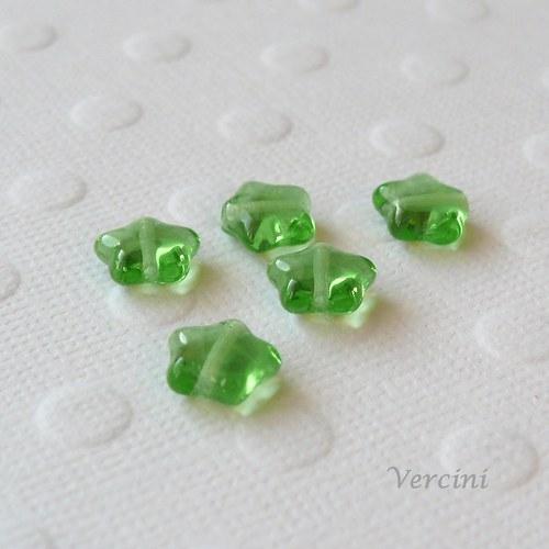 Hvězdičky zelené 10ks