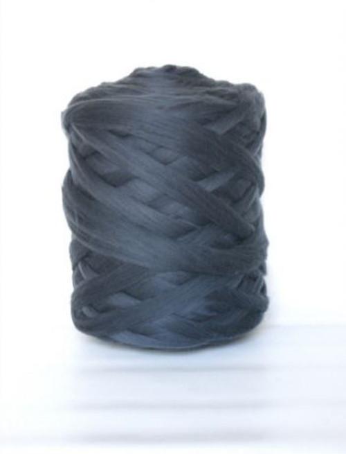 Mega vlna 65 - šedá grafitová - gigantické pletení