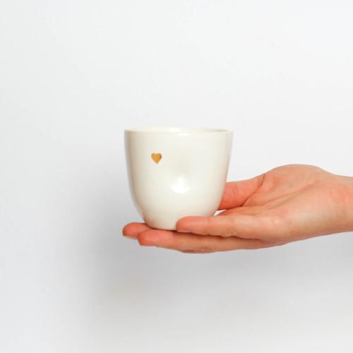 hrnek na kávu- golden heart