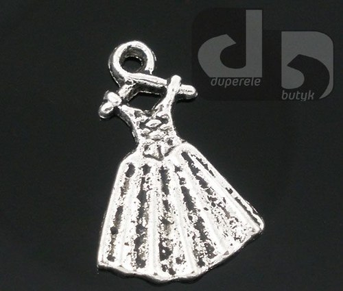 Přívěšek - šaty 19x13 mm 2 ks