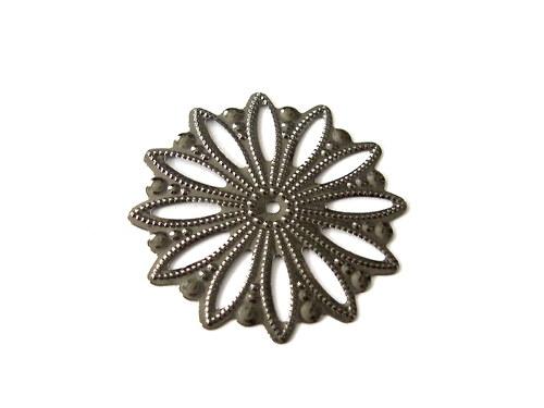 2902816/Filigránová květina antracit, 1 ks