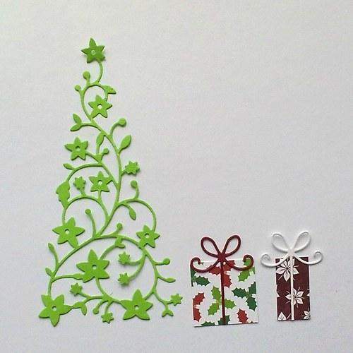 Výsek - Květinový stromek a dva balíčky